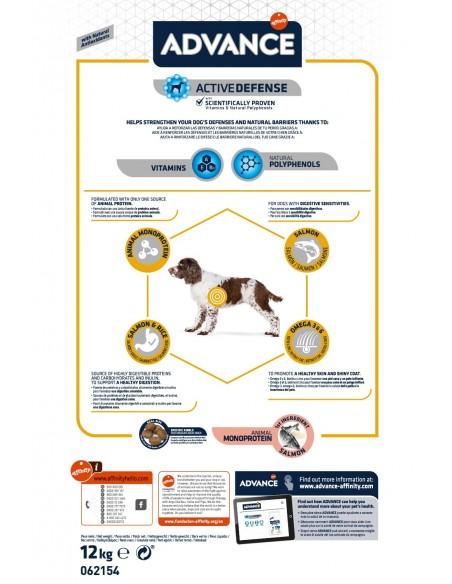 Advance Adulto Sensitive Salmão Medium - Maxi | Cuidados Especiais para Cães | Advance Affinity