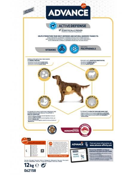Advance Adulto Sensitive Cordeiro Advance Affinity Cuidados Especiais