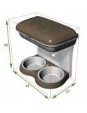 Comedouro Parede Food Stand Maxi 2,3Lt Trixie Comedouro para cães