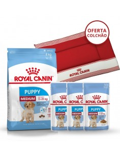 Pack Royal Canin Medium Puppy - Oferta Cama para cão