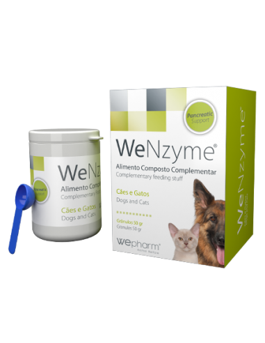 WeNzyme - 50 gr Cuidar da função pancreática de cães e gatos Wepharm Vitaminas e Complementos