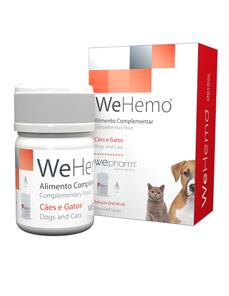 WeHemo - Tratar a anemia em cães e gatos 30 ml Wepharm Vitaminas e Complementos