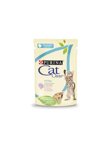 Purina Cat Chow Kitten Alimento Húmido para Gatinhos com peru e courgetes   Comida Húmida Gatos   Cat Chow