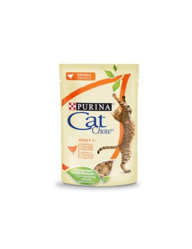 Purina Cat Chow Adult Alimento Húmido para Gatos Adultos com frango | Comida Húmida Gatos | Cat Chow