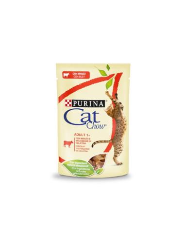 Purina Cat Chow Adult Alimento Húmido para Gatos Adultos com vaca   Comida Húmida Gatos   Cat Chow