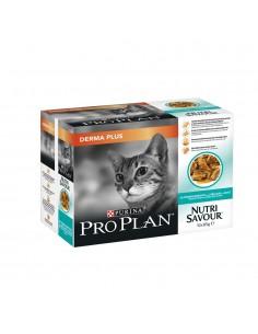 Purina Pro Plan Nutrisavour Adult Dermaplus 10 x 85gr | Comida Húmida para Gatos | Pro plan