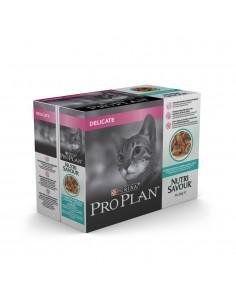 Purina Pro Plan Nutrisavour Delicate Peixe do Oceano 10 x 85gr. Pro plan Alimentação Húmida para Gatos