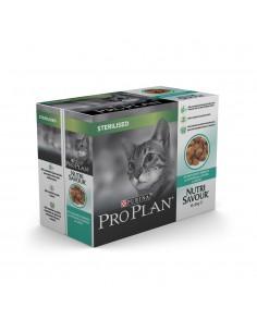 Purina Pro Plan Nutrisavour Sterilised Peixe do Oceano 10 x 85gr | Comida Húmida para Gatos | Pro plan