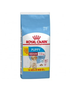 Royal Canin Medium Puppy 15 +3kg Grátis, Alimento Seco Cão