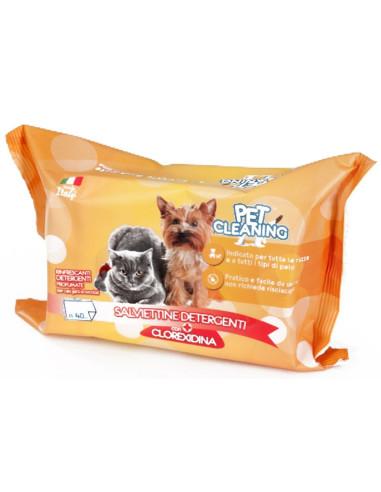 Toalhetes Limpeza Cães e Gatos Clorexidina 40 Unidades Higiene, Saúde e Beleza
