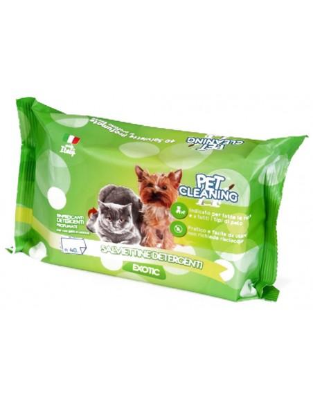 Toalhetes de Limpeza Cães e Gatos Exotic 40 Unidades