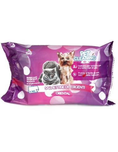Toalhetes de Limpeza Cães e Gatos - Oriental 40 unidades | Higiene, Saúde e Beleza | Orniex