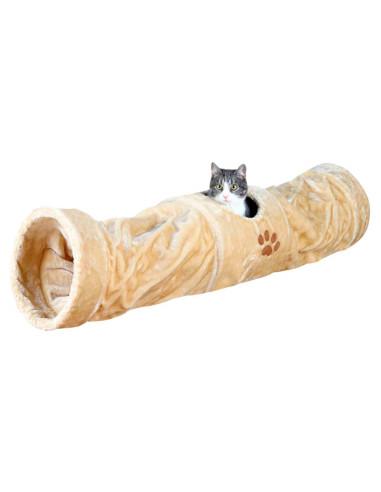 Túnel de Brincar em Pelúcia Bege Trixie Brinquedos para gatos