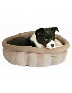 Cama para Cães Redonda Leona Castanho e Creme Trixie Camas para cães