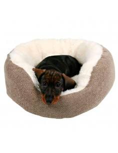 Cama para Cães Redonda Yuma Castanho e Branco Trixie Camas para cães
