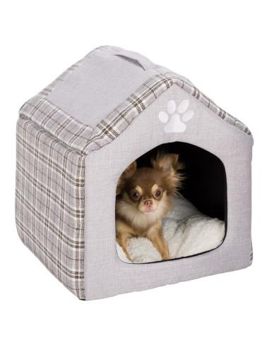 Casota para Cão Nicho Silas Cinzento e Creme Trixie Casotas para cães
