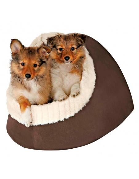 Cama para Cães Nicho Timur Castanho e Bege