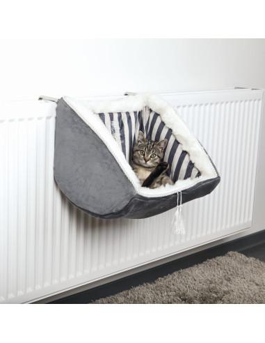 Cama para Gato Cat Prince com Aplicação para Radiadores Cinza Trixie Camas para Gatos