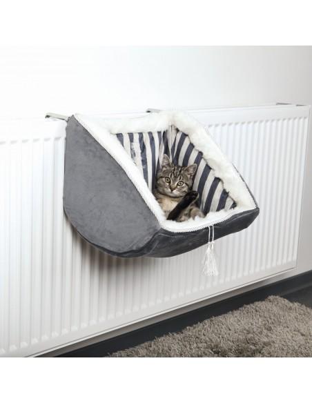 Cama para Gato Cat Prince com Aplicação para Radiadores Cinza
