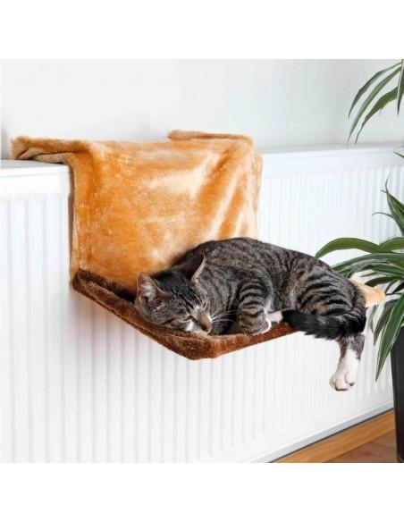 Cama para Gato de Luxo com Aplicação para Radiadores Castanho
