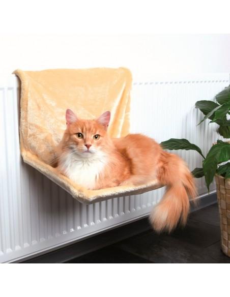 Cama para Gato com Aplicação para Radiadores Bege