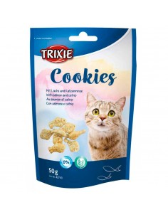 Biscoitos para Gatos Cookies com Salmão e Catnip | Snacks para Gatos | Trixie