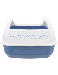 Caixa de Areia para Gatos Bandeja com Rebordo Delio Azul e Branco Trixie Caixa de areia para gatos
