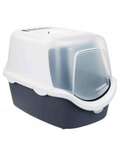 Caixa de Areia para Gatos Toilete Vico Easy Clean Azul, Cinza e Branco Trixie Caixa de areia para gatos