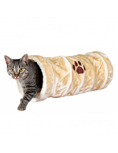 Tunel para Gato Crunch Bege Trixie Brinquedos para gatos