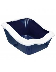 Caixa de Areia para Gatos Toilete Cleany Cat Extra Azul Escuro e Branco Trixie Caixa de areia para gatos