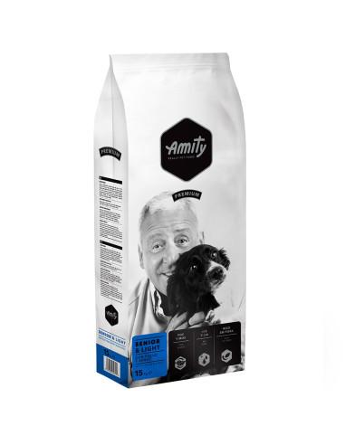 Amity Premium Senior & Light 15 Kg   Ração Seca para Cães   Amity