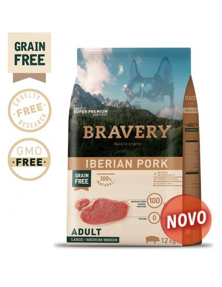 Bravery Iberian Pork Adult Med/Large 4 Kg
