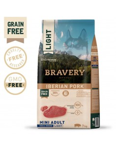Bravery Ib. Pork Adult Mini/Small (Light) 2 Kg Bravery Ração Seca para Cães
