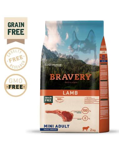 Bravery Lamb Mini Adult Small 2 Kg   Ração Seca para Cães   Bravery