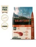 Bravery Lamb Adult Large/Medium 4 Kg Bravery Ração Seca para Cães