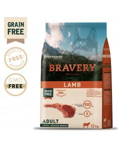 Bravery Lamb Adult Large/Medium 4 Kg | Ração Seca para Cães | Bravery