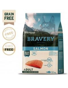 Bravery Salmon Adult Large/Medium 4 Kg Bravery Ração Seca para Cães