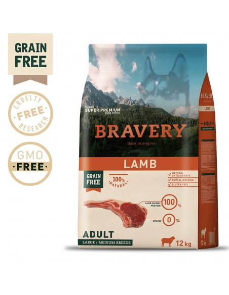 Bravery Lamb Adult Large/Medium 12 Kg