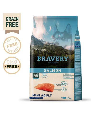 Bravery Salmon Mini Adult Small 7 Kg Bravery Ração Seca para Cães