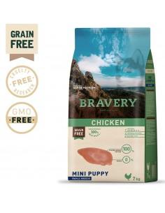 Bravery Chicken Mini Puppy Small 7 Kg Bravery Ração Seca para Cães
