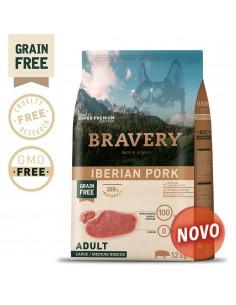 Bravery Iberian Pork Adult Med/Large 12 Kg Bravery Ração Seca para Cães