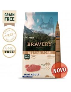 Bravery Iberian Pork Adult Mini/Small 7 Kg Bravery Ração Seca para Cães