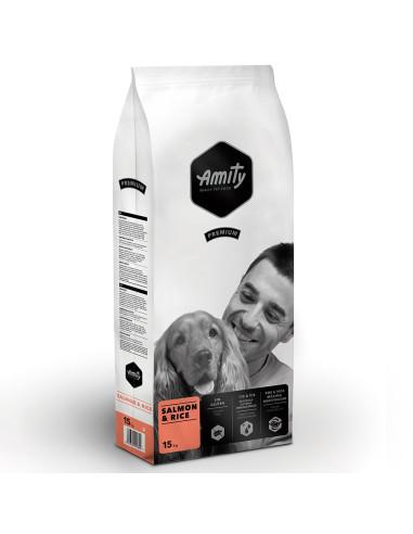 Amity Premium Salmon & Rice 15 Kg | Ração Seca para Cães | Amity