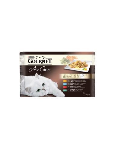 Gourmet A La Carte Receitas do Chefe Gourmet Alimentação Húmida para Gatos
