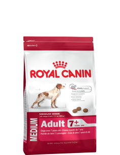 Royal Canin Medium Adult +7anos 15kg, Alimento Seco Cão