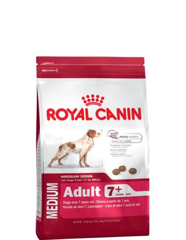 Royal Canin Medium Adult +7anos 15kg, Alimento Seco Cão Royal Canin Alimentação Seca para Cães