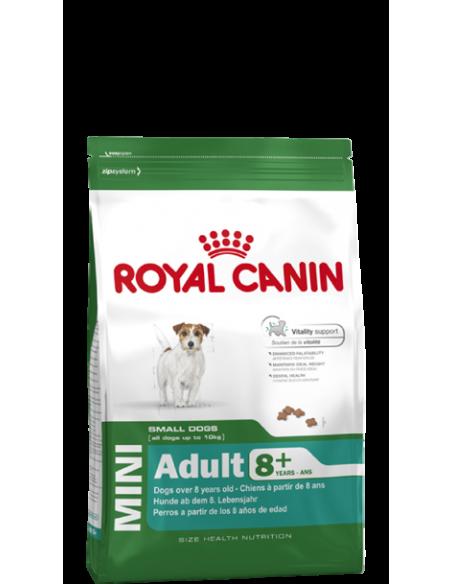 Royal Canin Mini Adult +8, Alimento Seco Cão